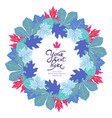 bright circle frame with leaves and place for your vector image