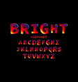 bright creative high detail font vector image vector image