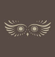 Brown abstract silhouette of owl vector image vector image