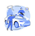 car wash service abstract concept vector image vector image