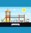 childrens playground cartoon vector image