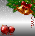 Christmas bells and red baubles vector image vector image