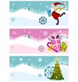 Christmas card set vector image vector image