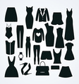 clothes icon set collection fashion signs and vector image