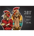 Cock in hipster costume vector image vector image