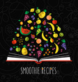 colorful of smoothie recipe cookbook in flat vector image