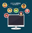 community social media computer system vector image