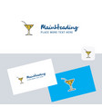 drink logotype with business card template vector image vector image