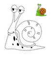 educational game for kids and coloring book-snail vector image vector image