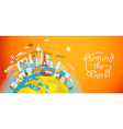 Famous signts around the world Travel concept vector image vector image