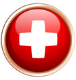 flag of switzerland on round frame vector image vector image