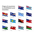 flags countries australia and oceania vector image