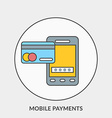 flat design concept for mobile payments vector image