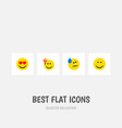 flat icon gesture set of tears smile have an vector image vector image