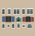 flat window pack vector image vector image