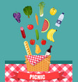 food and pastime icons vector image vector image