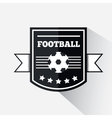 Football or soccer emblem vector image