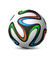 Football soccer match ball Brazil 2014 vector image vector image