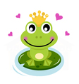 Frog prince with hearts vector | Price: 1 Credit (USD $1)