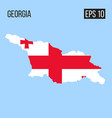 georgia map border with flag eps10 vector image vector image