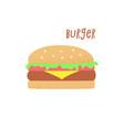 hamburger retro vector image vector image