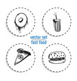 hand drawn bakery sticker set blackboard icon vector image vector image