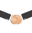 handshake partnership on a white background vector image vector image