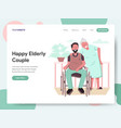 happy elderly couple concept vector image