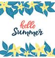hello summer sale advertising seasonal discounts vector image vector image