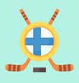 Hockey in Finland vector image vector image