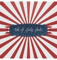 Independence Day 4th of July paper Card Template vector image vector image