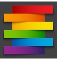 Infographics rainbow paper stripe banners with