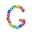 Letter G made of multicolored hearts vector image vector image