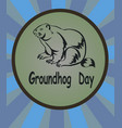 marmot icon groundhog day vector image