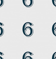 number six icon sign Seamless abstract background vector image