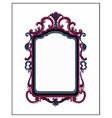 Photo frame with ornaments vector image vector image