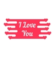 pink i love you melted sign vector image vector image