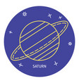 planet saturn icon in thin line style vector image vector image