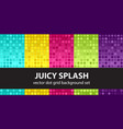 polka dot pattern set juicy splash seamless vector image vector image