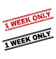 scratched textured and clean 1 week only stamp vector image