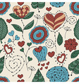 Seamless Valentines Day Floral Pattern vector image