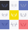 Set of minimalistic laurel wreaths vector image