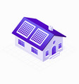 solar panels electric system on the eco energy vector image vector image