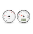 speedometer and tachometer white 3d vehicle vector image vector image