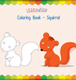 squirrel coloring book educational game vector image vector image