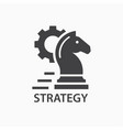 strategy icon startup logo template vector image