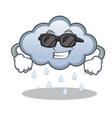 super cool rain cloud character cartoon vector image vector image