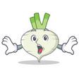 surprised turnip mascot cartoon style vector image vector image
