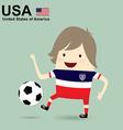 united states america national football team vector image