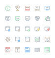 User Interface Colored Line Icons 31 vector image vector image